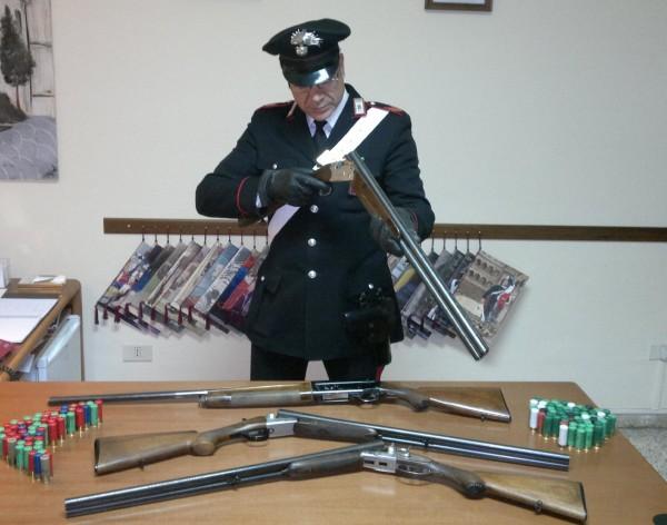 PIETRAMELARA / RIARDO / ROCCAROMANA – Porto abusivo di armi e frode allo stato, in quattro sotto processo.