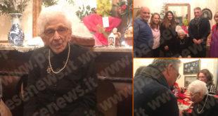Sessa Aurunca / Carano – Nonna Ada compie cento anni, gli auguri della comunità caranese e dell'amministrazione