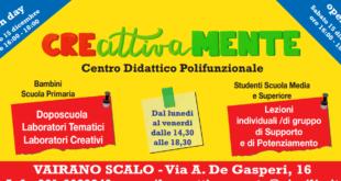 VAIRANO PATENORA – CreAttivaMente, apre il centro didattico polifunzionale per alunni delle elementari e delle medie