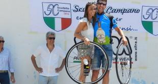 Il vincitore della cronoscalata Ernesto Centofanti