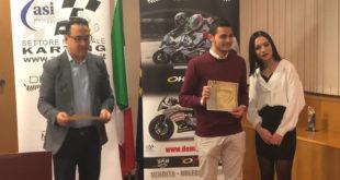 PIEDIMONTE MATESE – Kart, il campione d'Italia De Lellis premiato nella sede del Coni