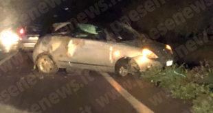 Sessa Aurunca – Ennesimo incidente a via Raccomandata, due feriti. La Provincia continua a non intervenire a manutenere l'arteria