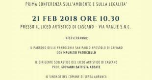 """SESSA AURUNCA – """"Terra Mater"""": conferenza sull'ambiente al liceo artistico di Cascano"""