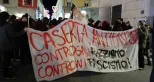 """CASERTA – Corteo """"antifascista"""" per la venuta di Salvini: tutta la sinistra per strada"""
