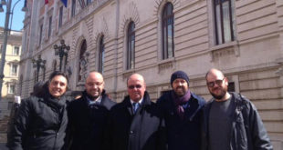 Roma / Pietravairano – Margherita Del Sesto in parlamento, accompagnata dal papà e dal fratello. E non poteva mancare Angelone