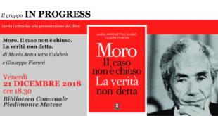 PIEDIMONTE MATESE – Aldo Moro, un caso non ancora chiuso: domani la presentazione del libro di Fioroni e Calabrò