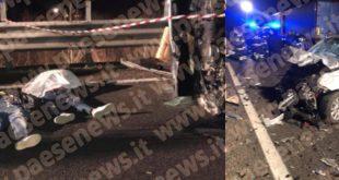 Alvignano / Gioia Sannitica – Strage sulla telesina, 4 malviventi morti nello schianto (il video)