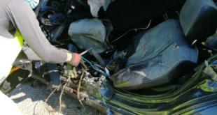 Piedimonte San Germano / Presenzano – Auto contro guardrail, giovane ucciso sul colpo (la foto)