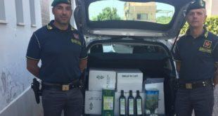 Aversa – Olio di oliva contraffatto, prodotto da azienda inesistente: denunciato commerciante