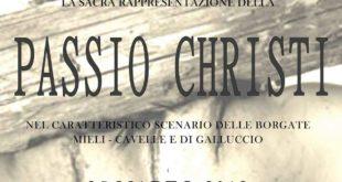 """GALLUCCIO – """"Passio Christi"""": domenica in scena nei borghi della città"""