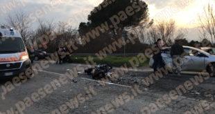 Gricignano / Teano – Moto contro auto sulla Casilina, tre persone coinvolte: grave centauro